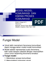 Modelmodel Komunikasi Dan Esensi Proses Komunikasi