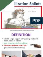 Immobilization Splints