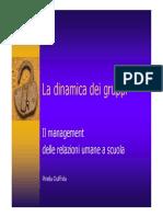Management Delle Relazioni Umane a Scuola