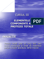 Cursul 3 Elementele Componente Ale Protezei Totale