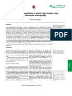 Non invasive evaluation using ultrasound elastography for portal hypertension.pdf