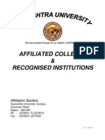 Afliation College as on 2008-09