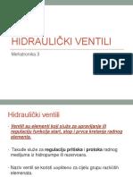 12. Hidraulički ventili