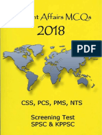 Current Affairs 2018 MCQs