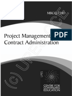 MBCQ724D Project Management and Contract Adminstration
