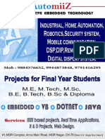 IEEE Embedded Project Titles from AutomiiZ chennai.