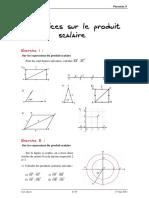 09 Le Produit Scalaire Et Ses Applications Exercices