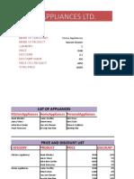 Xcel Appliances[ITT Proj]