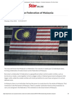 Understanding the Federation of Malaysia - A Humble Submission _ the Star Online