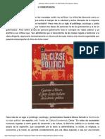 """¿Siempre Habrá Una Élite_ """"La Clase Política"""" de Gaetano Mosca"""