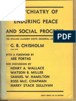 Psychiatry of Enduring Peace and Social Progress - Chisholm and Sullivan -1946, Offprint of the Reestablishment of Peacetime Society