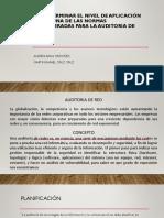 DETERMINAR EL NIVEL DE APLICACIÓN DE ALGUNA DE LAS NORMAS CONSIDERADAS PARA LA AUDITORIA de redes