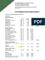 MOPC Presupuesto Cancha Deportiva