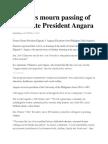 Senators Mourn Passing of Ex-Senate President Angara