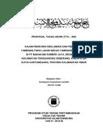 Proposal TA Awal - Kajian Rencana Reklamasi Lahan Bekas Tambang Batubara Di PT Mahakam Sumber Jaya