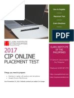 CIP Online Placement Test Guideline - EnG (2017)