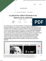 Albert Einstein Et Sa Théorie Sur La Relativité - L'Express
