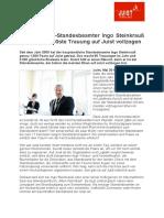 +++ Pressemeldung_ Inselstandesbeamter Ingo Steinkrauß traut 1.000stes Paar auf Juist +++