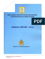 Annual Report Srilanka Institute of Advanced Technological Education 2014