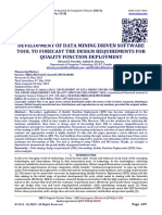 DEVELOPMENT OF DATA MINING DRIVEN SOFTWARE TOOL TO FORECAST THE DESIGN REQUIREMENTS FOR QUALITY FUNCTION DEPLOYMENT