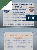 Metodos de Estabilidad de Taludes Diapositivas Maestria