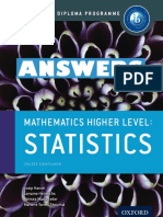 Mathematics HL - ANSWERS - Statistics