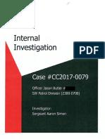 "2017 LRPD Internal Investigation of Officer Jason ""Horndog"" Butler"