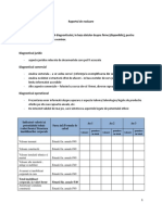 Elemente Diagnostic Raport Evaluare