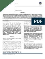Experiment 7 Photochemistry