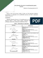 Effects of Magnolol, Honokiol, Obovatol, 4-O-methylhonokiol Against Bacteria