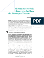 O Ludicamente sério e o seriamente lúdico de Geroges Perec (por Jacques Fux)