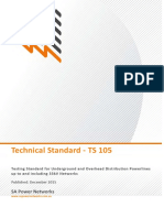 Ts105 Testing Standard for Underground and Overhead Distribution Powerlines Up to and Including 33kv Networks