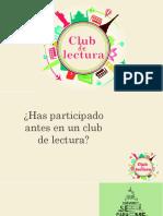 encuentro 1 del club de lectura