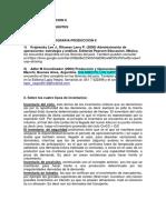 Bibliografia y FAQ Produccion II