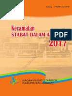Kecamatan Stabat Dalam Angka 2017