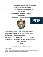 Universidad Nacional de San Cristobal de Huamanga Materiales de Laboratorio de Quimica