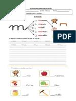 Guía 1° Letra M