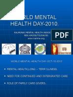 World Mental Health Day 2010 - KAMHA.ORG