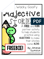Adjectives Stories Freebie