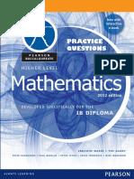 Mathematics HL - Practice Questions