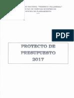 Presupuesto 2017 FCE UNFV