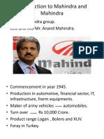 Introduction to Mahindra and Mahindra.pptx