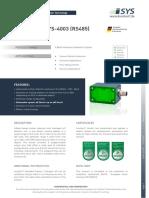 170512 DataSheet iSYS-4003 V1.3