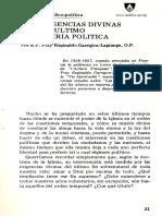 Las Exigencias Divinas Del Fin Ultimo en Materia Politica, R.P. Fray Reginaldo Garrigou-Lagrange, O.P.