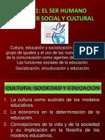 TEMA 1 El Ser Humano Como Ser Social y Cultural
