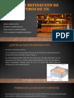 Electrorefinación de Sulfuros de Cu