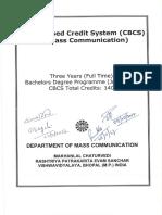 BA Mass Communication syllabus