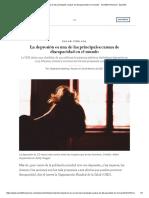 La Depresión Es Una de Las Principales Causas de Discapacidad en El Mundo - Scientific American - Español