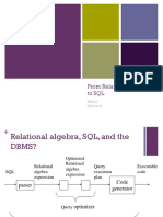 Relational Algebra to Sq l