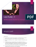 Lecture 1 - Introduction to Soils